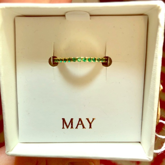 Chloe + Isabel Jewelry - May Emerald Birthstone Ring size 8